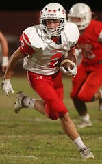 Christoval High School's Beau Jolly, shown in a file photo, is a Player of the Week nominee after his performance against Cross Plains in a Class 2A Division II bidistrict playoff game Nov. 15, 2019.