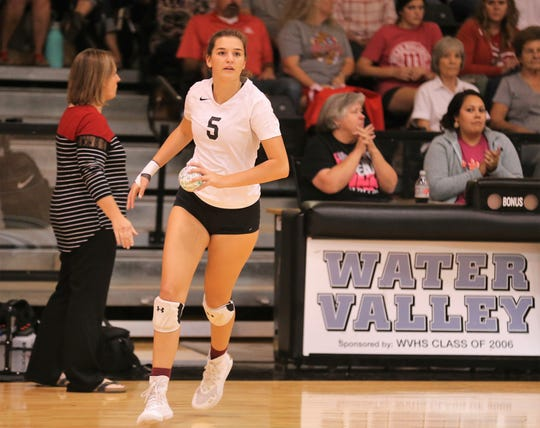 Water Valley High School's Baily Dawson is one of four seniors for the 2019 Lady Wildcats. Water Valley is making its eighth appearance at the UIL state volleyball tournament.