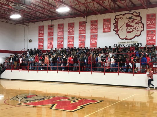 The Miles High School gymnasium filled up to watch Skyler Brooks sign to play softball at the University of North Carolina on Monday, Nov. 18, 2019.