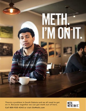 """A poster from the new """"Meth. We're On It."""" campaign."""