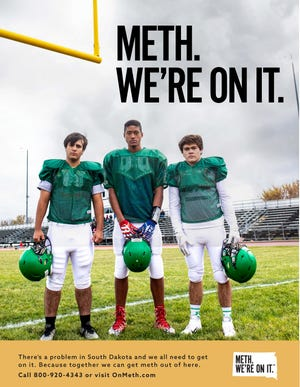 "A poster from the new ""Meth. We're On It."" campaign."