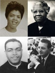 The naming committee for Springfield's new early childhood center has narrowed its suggestions to the following (clockwise from top left): Linda Brown, Adah Fulbright, Arthur Mallory and Rev. Oliver Brown.