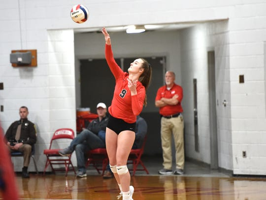 Lord Botetourt's Taylor Robertson is the daughter of former Lee High volleyball player Gretchen Foster Robertson.