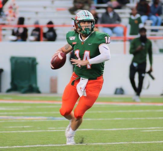 Quarterback Ryan Stanley FAMU's career record-holder in completions (694), attempts (1,149), yards (8,465) and touchdowns (63).