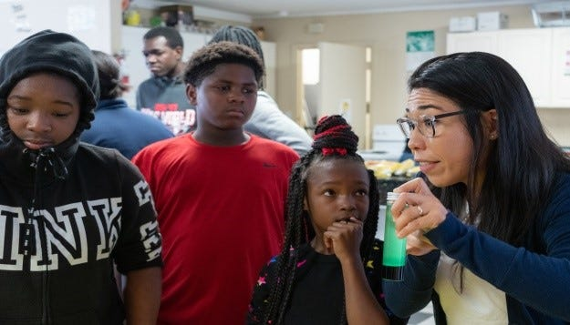 On Thursday, Oct.  24, 2019, STEMS4Girls hosted their second annual Lights On Afterschool Science Expo at Sunrise Place.