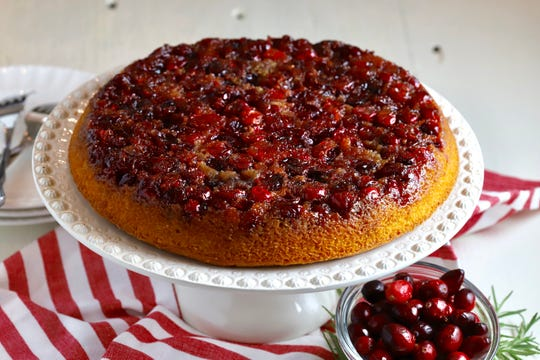 Cranberry Upside Down Cake keeps it extra simple by using a cake mix.