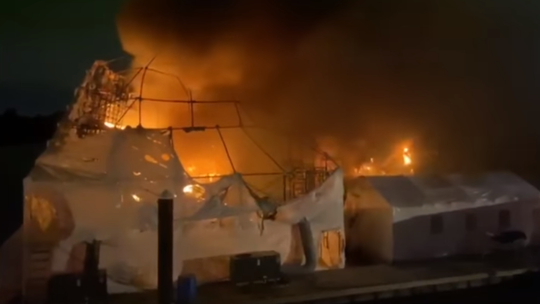 Fire causes $20 million in damages to two yachts in Fort Lauderdale Nov. 16, 2019.
