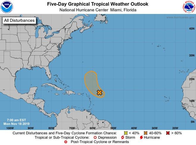 Tropics 7 a.m. Nov. 19, 2019