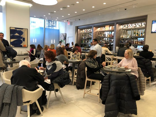 The bustling Bistro Verde, on level five, at the new Nordstrom NYC.