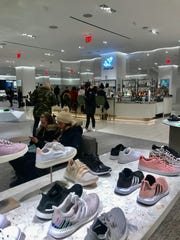 The Shoe Bar, at the lower level of the new Nordstrom, is smack dab in the middle of shoe displays.
