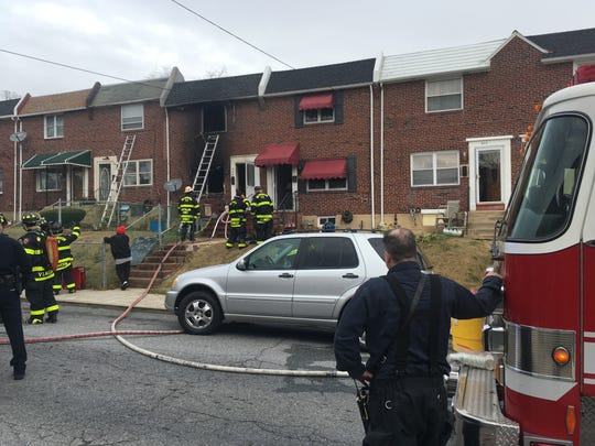 Two women were seriously injured in a Monday afternoon fire in a Wilmington row house, fire officials said.