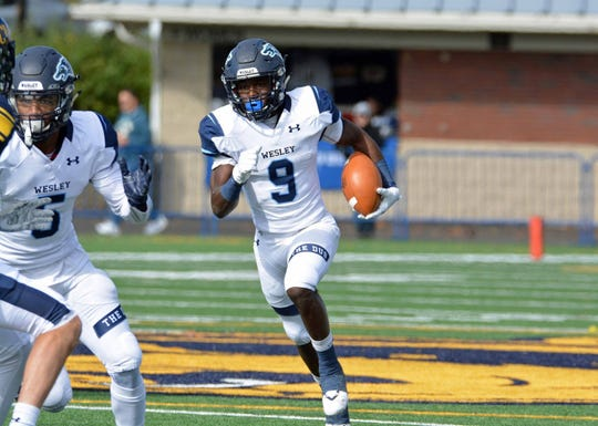 Senior Marcellus Pack, a former Dover High standout, is the leading rusher for Wesley College this season as the Wolverines enter the NCAA Division III football playoffs.