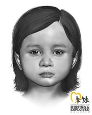 Two months after a child's remains were found at the Little Lass softball fields in Smyrna, police have released a sketch of what they believe the girl looked like.