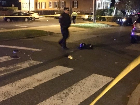 A 38-year-old man was critically injured Sunday evening after being hit by a car in Wilmington's Forty Acres neighborhood, police said.