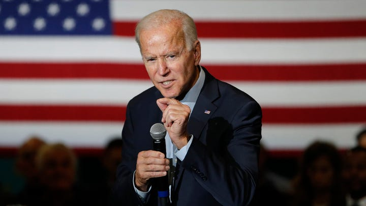 Former Vice President and Democratic presidential candidate Joe Biden speaks at a campaign event, Nov. 16, 2019, in Las Vegas.