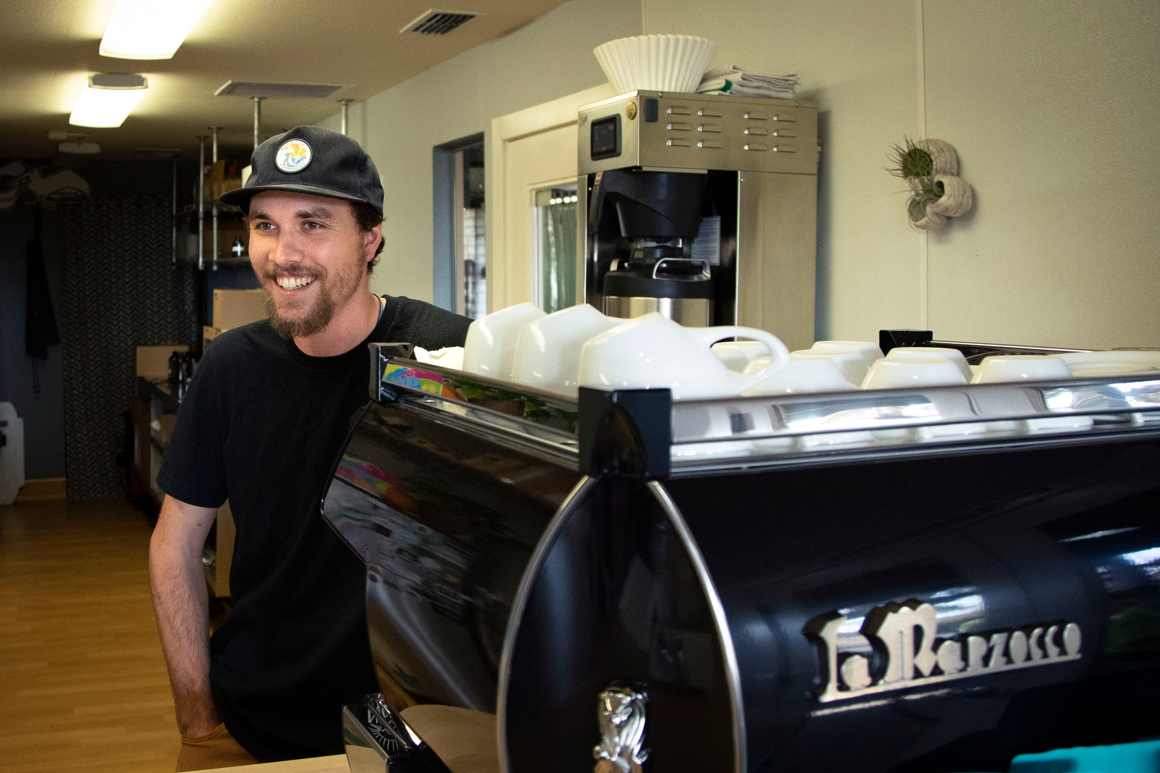 Life-long Newscastle, Calif., resident Joshua Hendrickson runs a popular coffee shop and bakery with his sister.