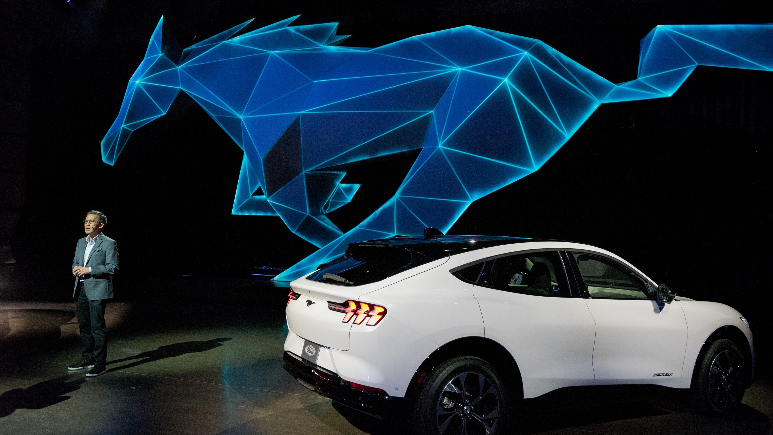 Take A Ride In The All Electric Ford Mustang Mach E Suv