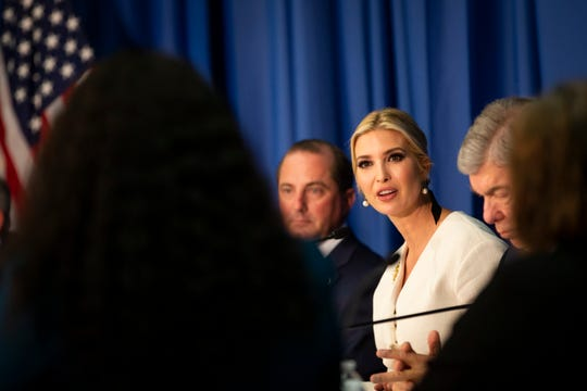 "Ivanka Trump visits Metropolitan Community College in Kansas City on Oct. 10 for a roundtable. ""Child care is an undisputed work-related expense for most of America's working families,"" she said at the Kansas City event."