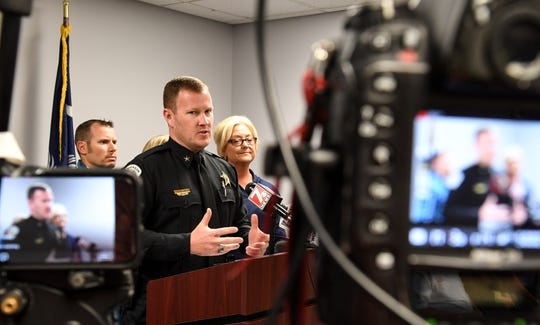 Chad McBride, Anderson County Sheriff speaks during a press conference in 2015. Deputies in the Anderson County Sheriff's Office do not have body cameras, despite formerÊGov. Nikki Haley signing a law in June 2015 requiring all law enforcement agencies to have them. The City of Anderson police have been using them for a few years.