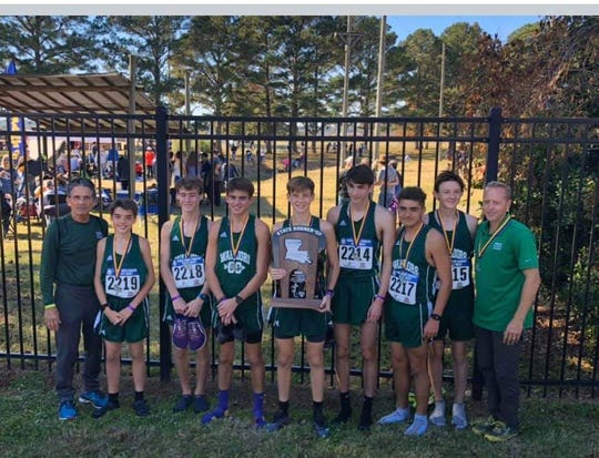 Grace Christian's boys were the runners-up in Class B at the LHSAA Cross Country meet Monday.