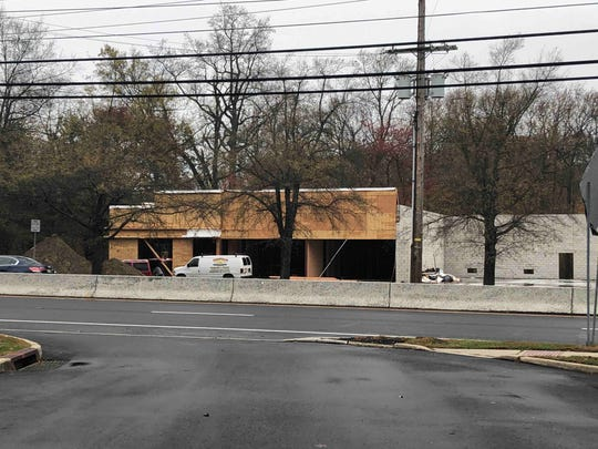 A shopping center is now under construction on Route 35 in Middletown.