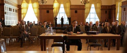 "Mark Ruffalo, center, stars as Robert Bilott in director Todd Haynes' ""Dark Waters,"" a Focus Features release."