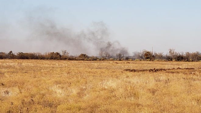 Several volunteer fire departments and the Texas A&M Forest Service were called to a fire near Mulberry Canyon on Tuesday, Nov. 19, 2019.