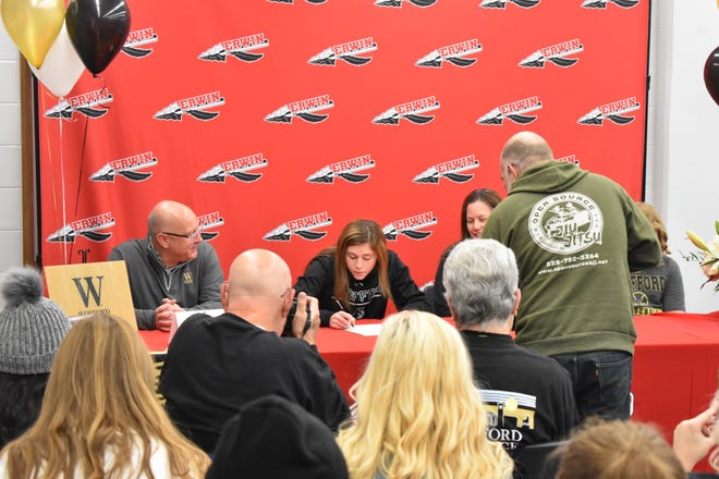 Erinw's Annabelle Schultz signs with Wofford