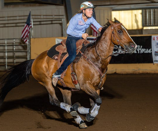 Klahowya's Lillian Taylor will compete in barrel racing at the Junior World Finals rodeo event in Last Vegas in December.