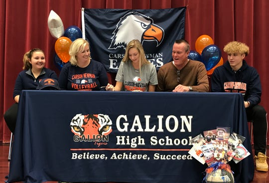 Galion's Taylor Keeran signs her letter of intent to attend Carson-Newman University for volleyball.