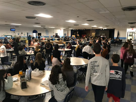 Frederick H. Tuttle Middle School is full despite three lunch periods. Nov. 11, 2019.