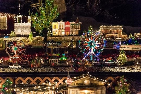 The Historic Clifton Mill features millions of lights as it becomes decked out for the holidays.