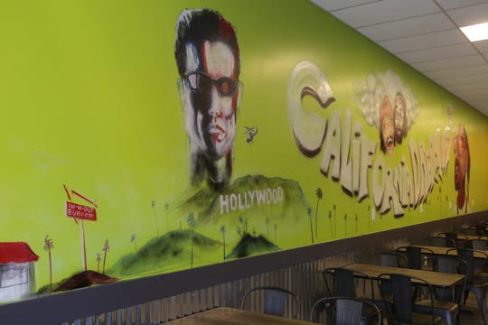 A mural decorates the wall of a second Clarksville location of the popular West Coast Taco Shop which opened last week at 2485 Fort Campbell Blvd.