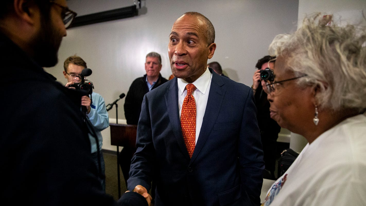 Former Massachusetts Gov. Deval Patrick faces questions on Bain Capital, AmeriQuest in first Iowa trip