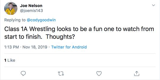 Wrestling Mailbag, Nov. 19, tweet 5