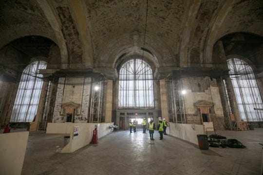 Interior of the historic Michigan Central Station photographed on Nov. 18, 2019 during a hard-hat tour hosted by Ford Motor Co., which owns the station and is remaking it as a center for mobility research.