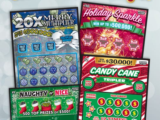 The Michigan Lottery recently introduced four new holiday-themed instant games.