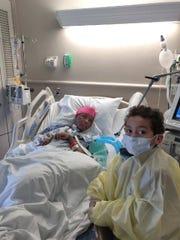 Priscilla Williams and her son, Sebastian Campos