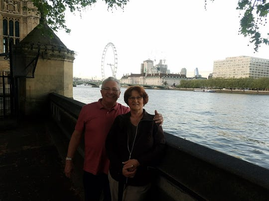 Bill Barker, who works at the Warren Technical Center, and his wife Patti visited London, England in April 2019. After 50 years at GM, he is considering retirement on or before March 1 after a special attrition program was reached in the UAW-GM contract ratified on Oct. 25.