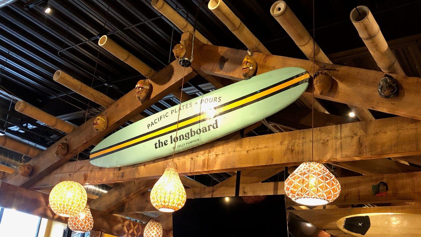 Surfs up at Jolly Pumpkin's Longboard restaurant in Dearborn, opening Monday