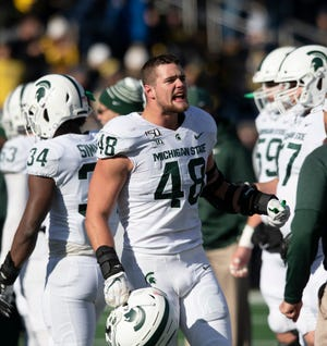 Michigan State defensive end Kenny Willekes is one of threefinalists for the Burlsworth Trophy, which honors the top college football player who began his career as a walk-on.