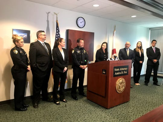 State Attorney Amira Fox and Cape Coral Police Chief Dave Newlan announce Tuesday, Nov. 19, 2019, the indictment of Wade Wilson for the murders of two Cape Coral women.