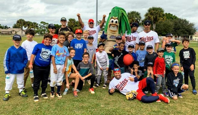Twins pitchers Lewis Thorpe and Brusdar Graterol and second baseman Luis Arraez helped out with the Let Kids Be Kids Clinic, along with Class AA manager Ramon Borrego and pitching coach Luis Ramirez.
