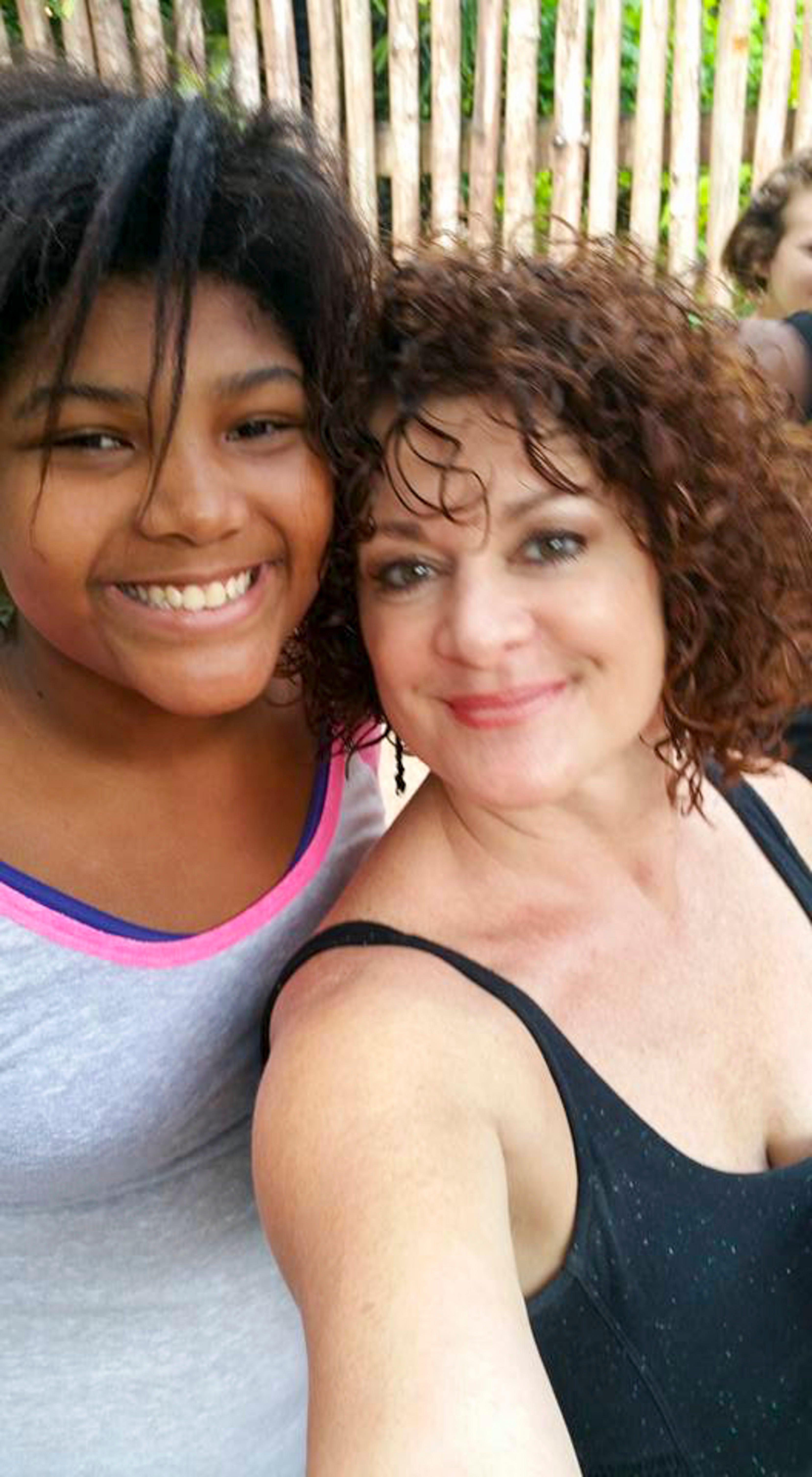 Anber and her former foster mom Karen Scott on Dec. 27, 2015.
