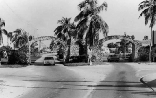 Stone arches served as an entrance to a narrow land passage, and later a swing bridge, that brought visitors to Fort Myers Beach. County commissioners want staff to look at ways to memorialize the arches place in local history.