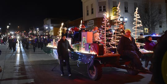 The Holiday Lights Parade along Ellis Street in downtown Kewaunee is one of the highlights of the city's annual Christkindlmarkt, an old-fashioned, German Christmas gift market. It takes place this year Nov. 22 and 23.