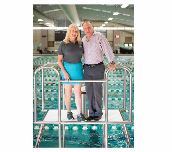 Leslie and Steve Scott, pictured here at the Greenville County Aquatic Complex at Westside Park, are executive directors of Upstate Splash.