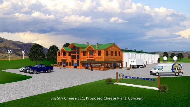 An artist's rendering of Big Sky Cheese LLC's proposed cheese processing facility.