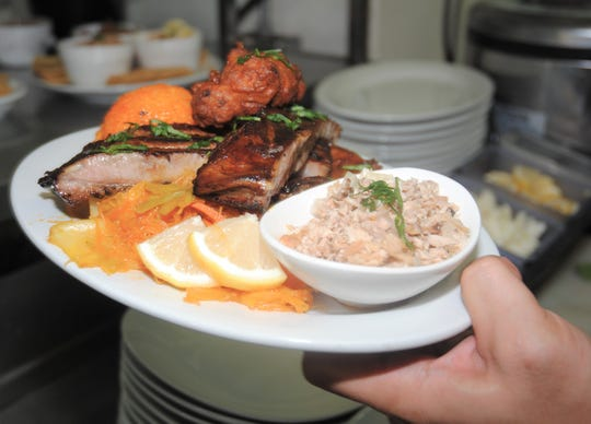 A ready to serve Fiesta Plate at Terry's Local Comfort Food on Nov. 14, 2019, San Vitores Road, Tumon, Guam.