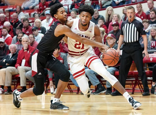 Hoosiers forward Jerome Hunter (21) missed all of last season with an unspecified leg injury.